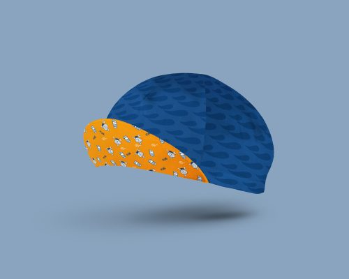 cotton blue cycling cap
