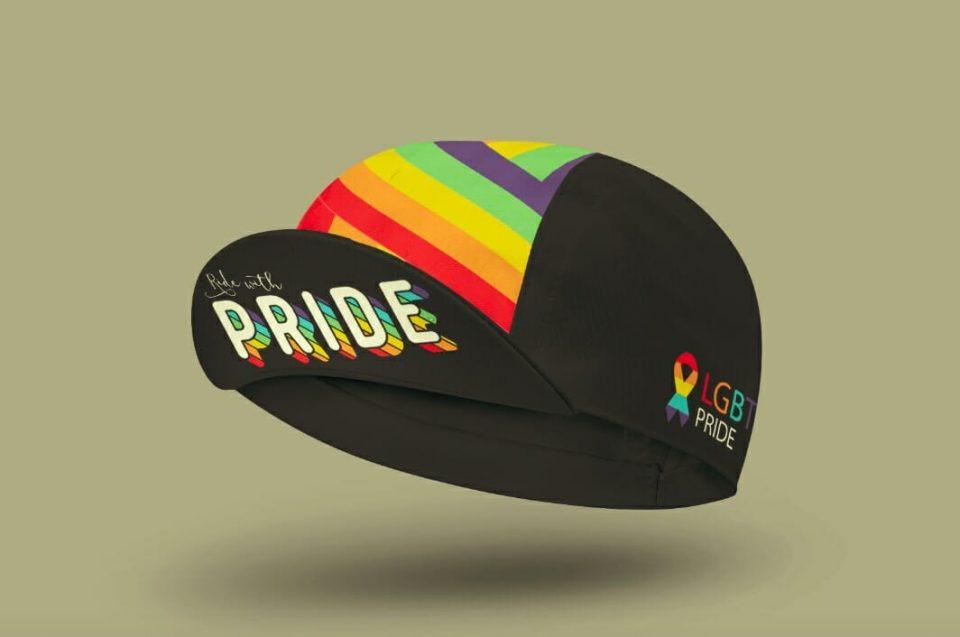 rainbow gay pride cycling cap