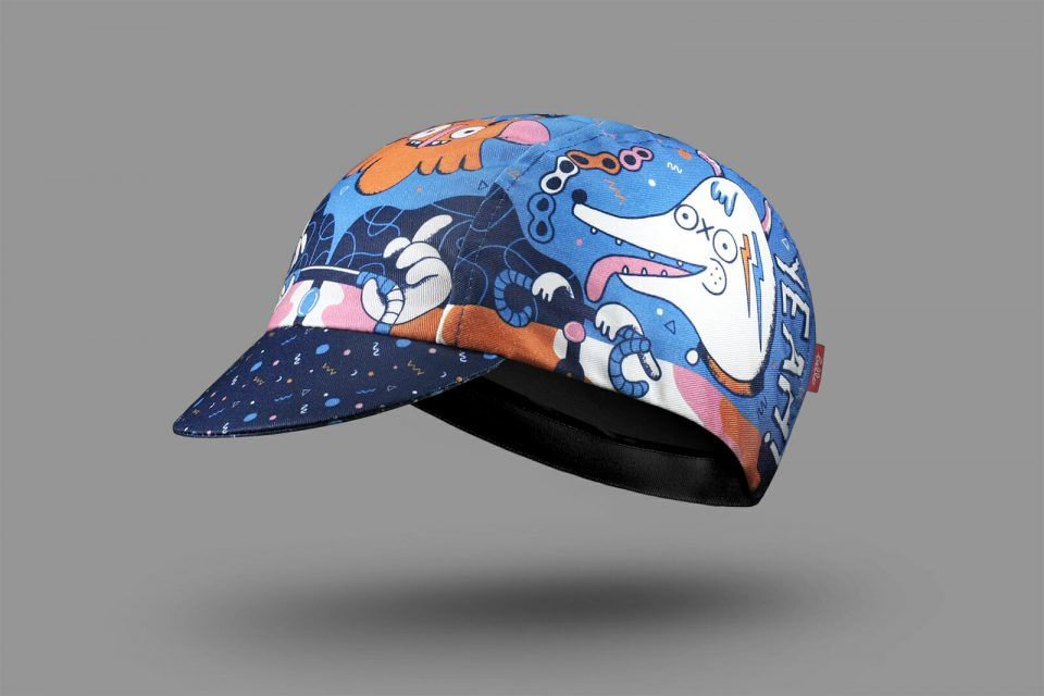 Funky 90s pattern Cycling Cap by Bello Cyclist cotton