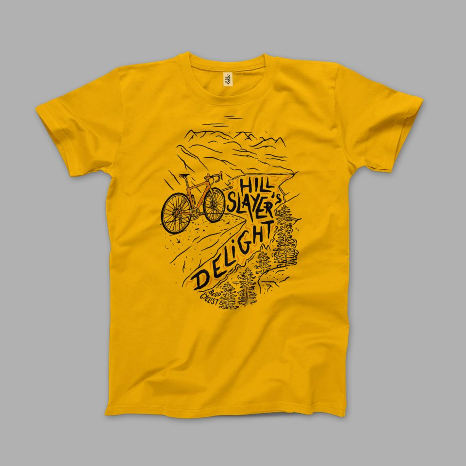 Hill Slayers Bello t-shirt mustard