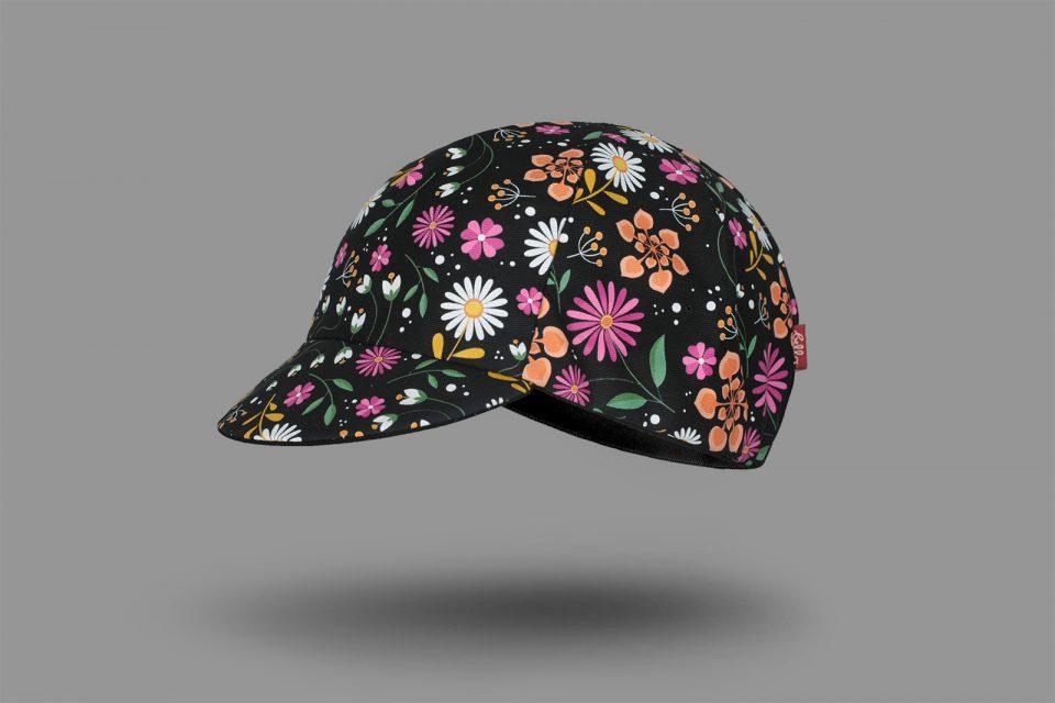 flower pattern cycling cap